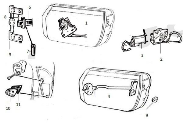 alfa ricambi alfa romeo spider mecanisme de porte. Black Bedroom Furniture Sets. Home Design Ideas